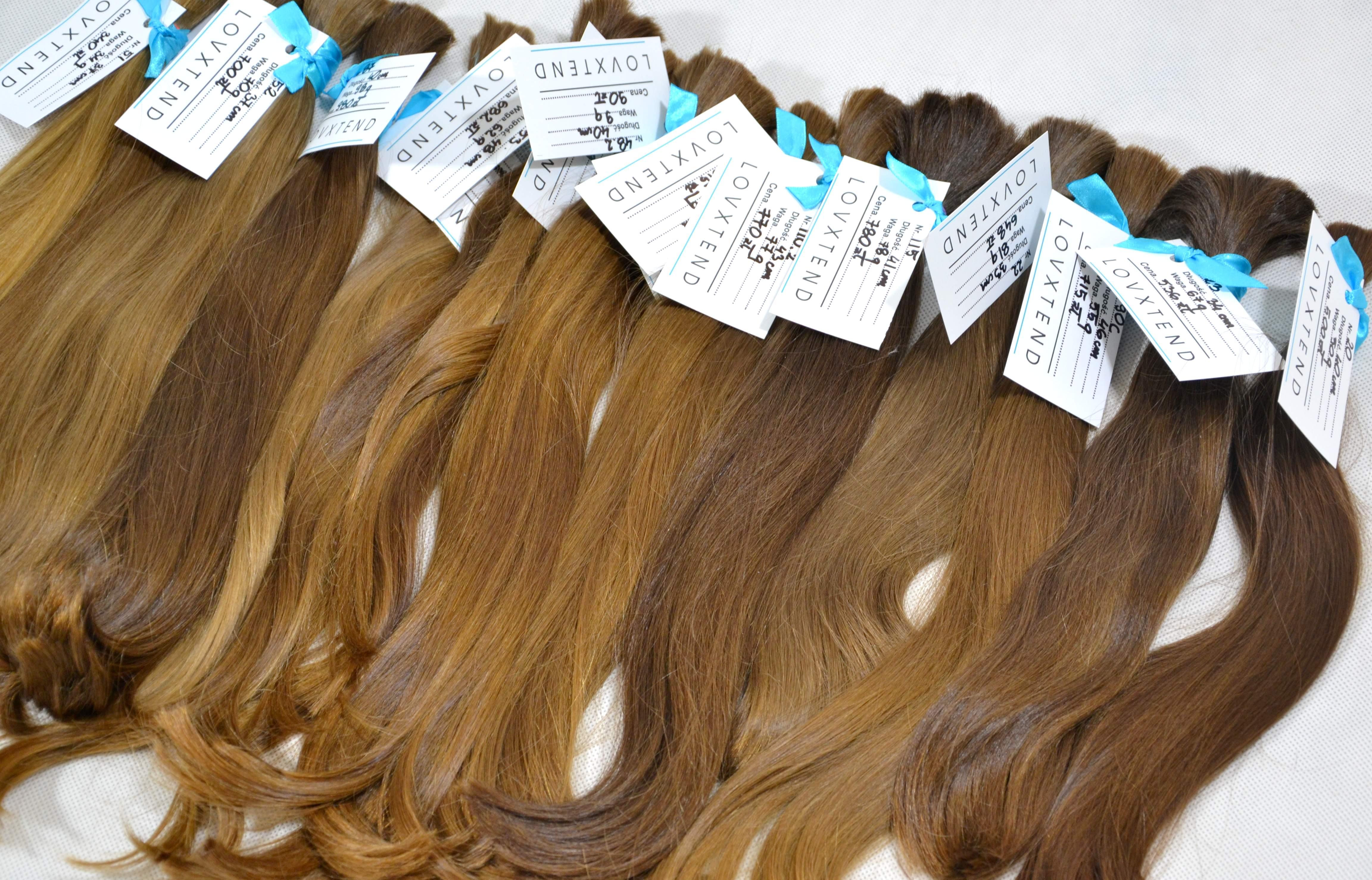 włosy farbowane - włosy dziewicze do przedłużania sklep internetowy